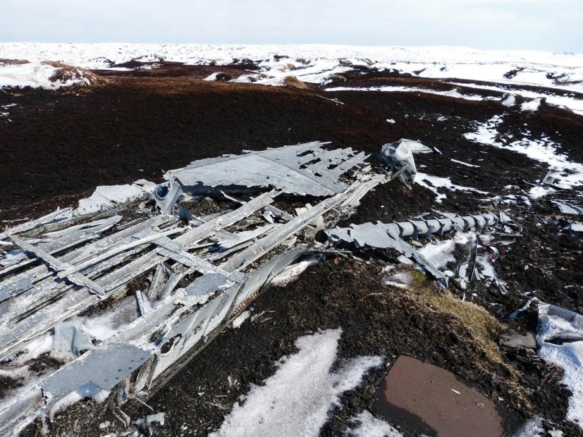 Overexposed Crash Site, Bleaklow