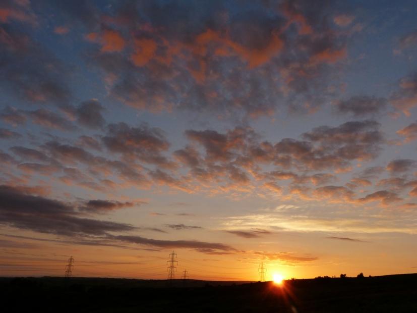 Sunset, Cefn Drum