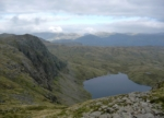Stickle Tarn and Langdale Pikes