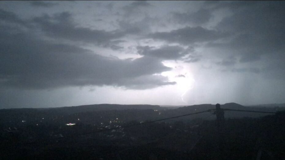 Lightning over South Wales